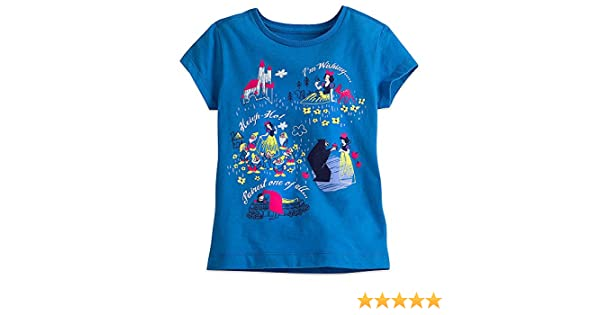 424fe60580 Amazon.com  Disney Snow White and The Seven Dwarfs Tee for Girls Blue   Clothing