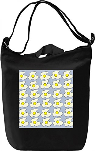 Animated Omelet Print Borsa Giornaliera Canvas Canvas Day Bag| 100% Premium Cotton Canvas| DTG Printing|