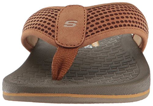 Skechers Usa Heren Pelag Emiro Platte Sandaal, Tan, 7 M Us