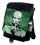 Ambesonne Futuristic Backpack, Robot Girl In Glass, Durable All-Purpose Bag