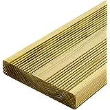 Listón de madera estriado para suelo, 27 x 145 x 3000 mm