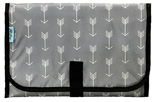 Baby - Steps, Portable Diaper Changing Pad (1 Changing Pad, Grey Arrows)