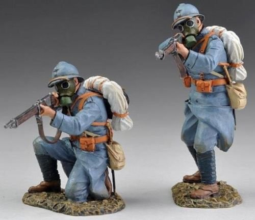wwi-french-infantry-2-figures-wearing-gas-masks-thomas-gunn-hand-painted-metal-1-30-toy-soldiers-bri