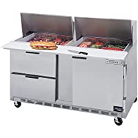 Beverage Air SPED60-24M-2 60 Refrigerated Mega Top Sandwich Prep Table