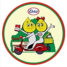 ESSO Motor Scooter Motor Oil Reproduction Sign 14x14