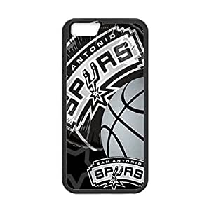 Fitted 4.7 inch Screen iPhone 6 TPU Case San Antonio Spurs Design Background (Laser Technology)-by Allthingsbasketball