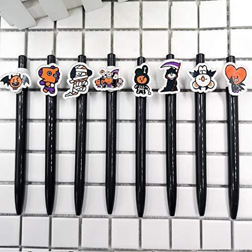bt21 Halloween Pen BTS Pencil BTS Pen Set Ballpoint Pen (8 PCS Haloween Pen) -