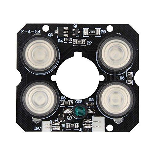TOOGOO 4 Array IR led Spot Light Infrared 4X IR LED Board CCTV Cameras Night Vision (52mm Diameter) (Cctv Board)