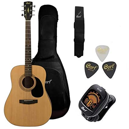 d869846890 Cort AD810 Dreadnought Acoustic Guitar with Gig: Amazon.in: Electronics