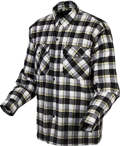 Scorpion Covert Flannel Reinforced/Kevlar Lined Protective Shirt (Black/Yellow, Medium) by Scorpion
