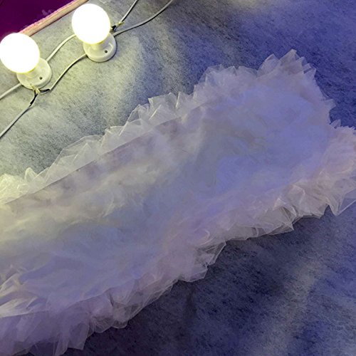 Laugh Cat Romantic White Wedding Stage Props Decoration 197'' White Yarn For Road Lead by Laugh Cat