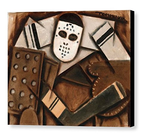Amazon Com Tommervik Abstract Cubism Vintage Hockey Goalie Art