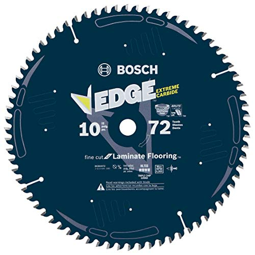 - Bosch DCB1072 Daredevil 10-Inch 72-Tooth Laminate Flooring, Laminated Panels and Melamine Circular Saw Blade
