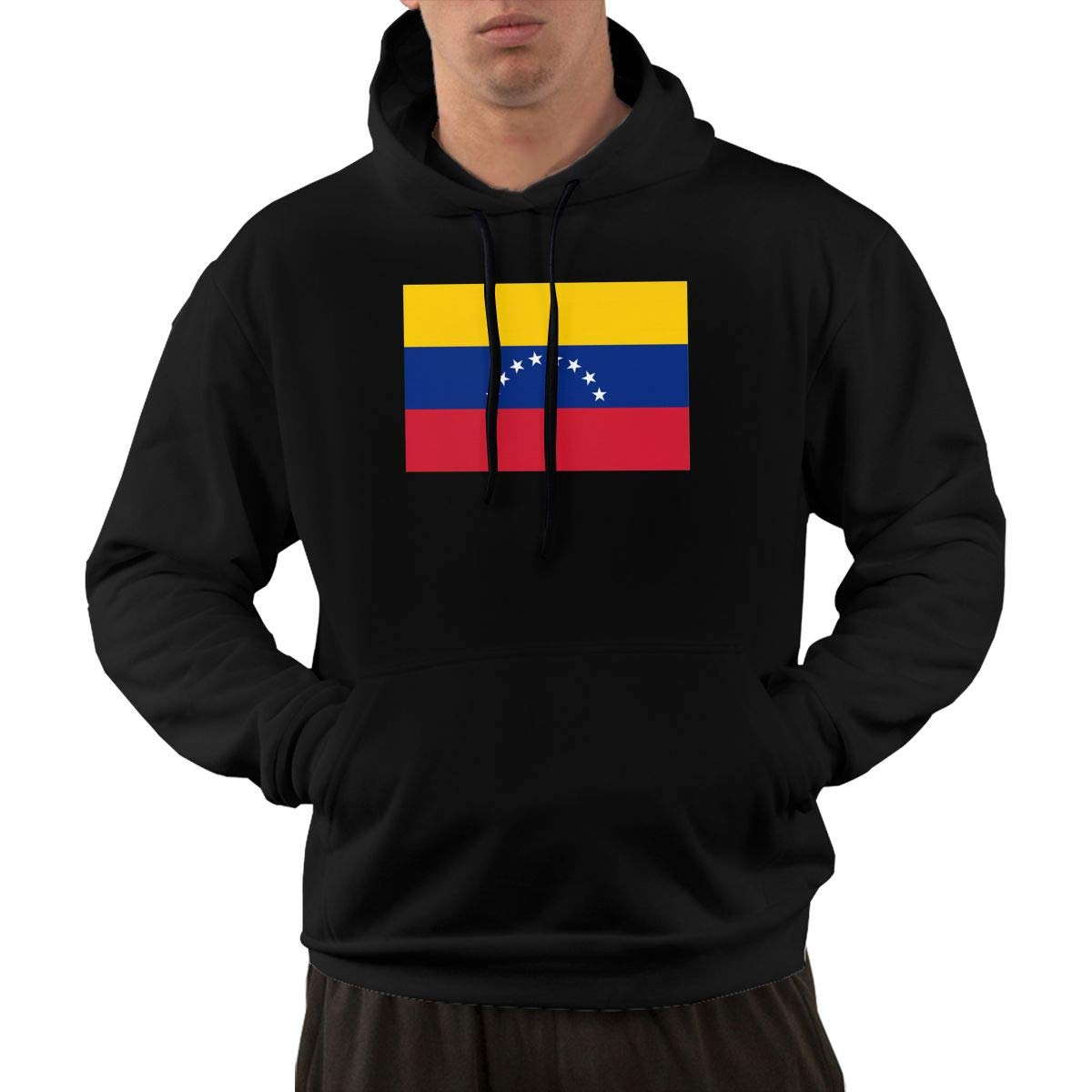 Flag of Venezuela Hoodie Mens Fashion Performance Active Pullover Graphic Hoodie Hooded Sweatshirt with Front Pocket
