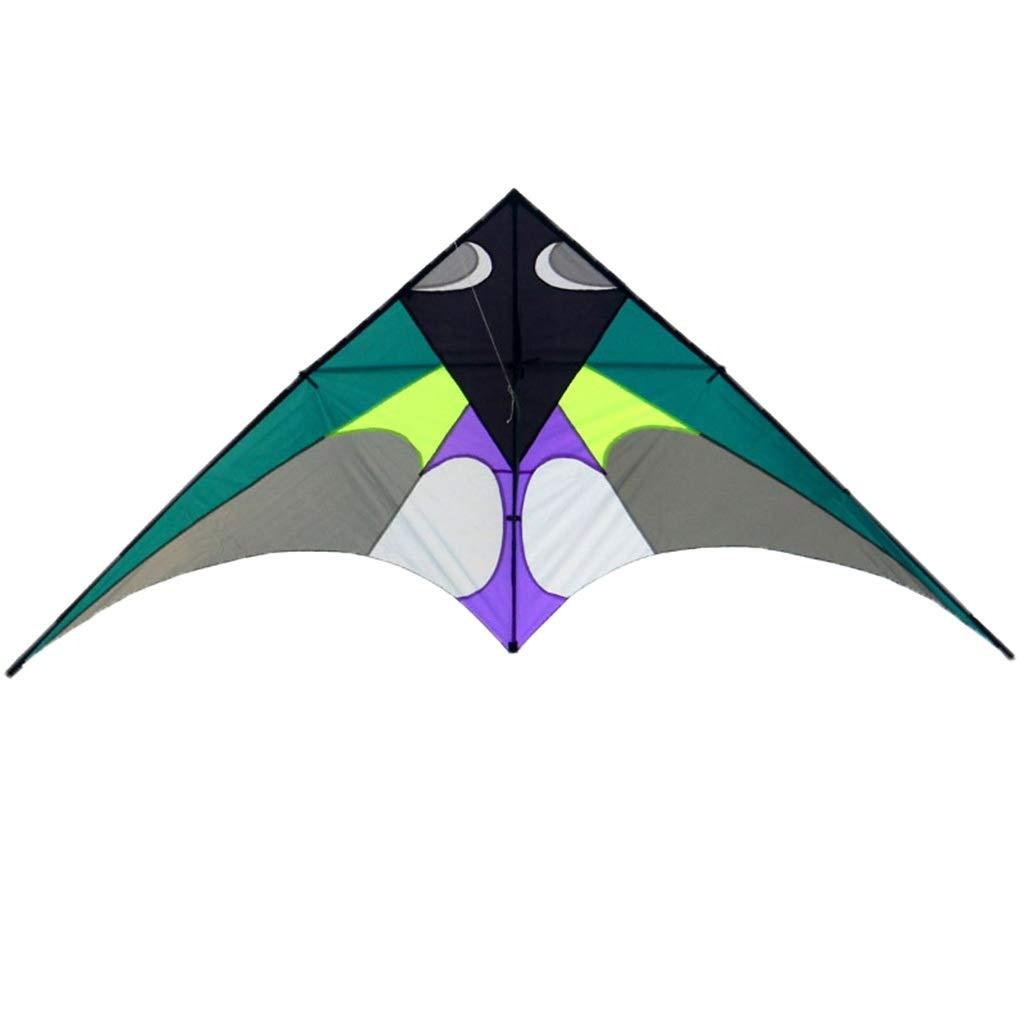 三角形の凧、飛ぶこと容易な大きい樹脂棒のそようの凧の大人の屋外のビーチ凧、300 * 136CM (色 : 緑) B07R6D92FS 緑