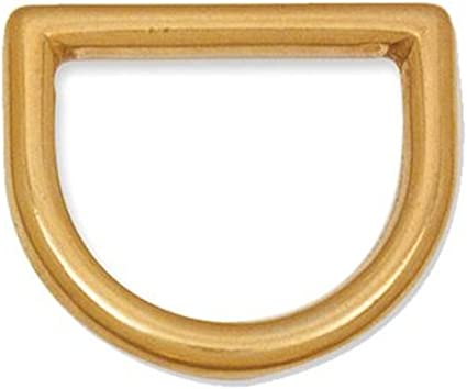 """CAST SOLID BRASS D RINGS LEATHERCRAFT Various Packs 1//2/"""" - 2/"""" = 12 mm- 50 mm"""