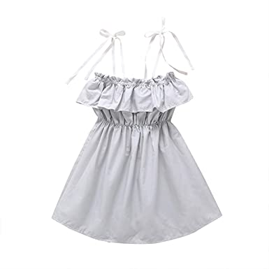 019417950b3c Image Unavailable. Image not available for. Color: Toddler Kids Baby Girl  Clothes Princess Sleeveless ...