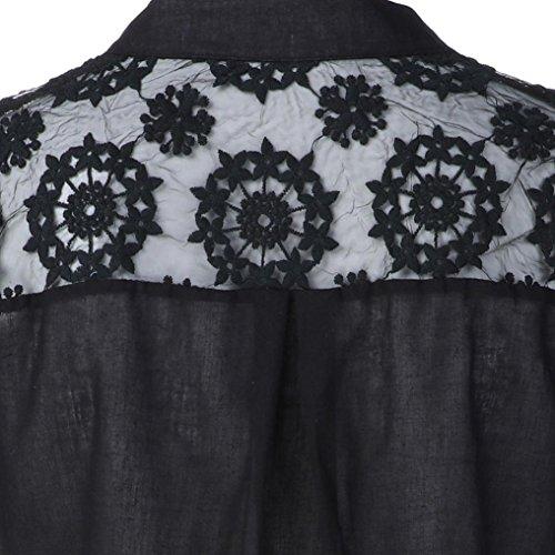 Femme Chemisier DAYLIN Courtes Manches Dress Noir HqI55zYw