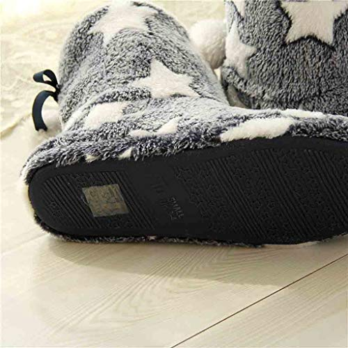 Felpa Mujeres De Cálido Zapatillas Botas Hogar Invierno Suave Cálidas Armada Pelota Suaves Mute Piso Casero Las Y wxSEtEO