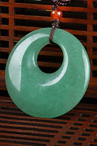 India tanglin Jade Peace Buckle Jade Necklace Pendant Natural Color Stone Jade Men Man Women Girls Models by PAGIPEN