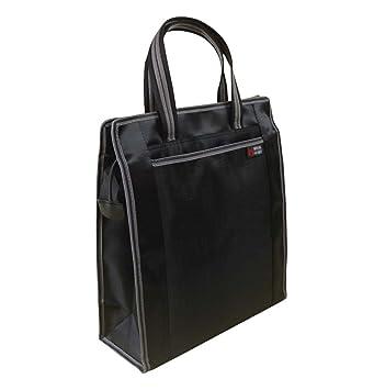 bolso de la oficina de negocios de la lona bolso de la cartera de la moda de documentos, negro: Amazon.es: Oficina y papelería