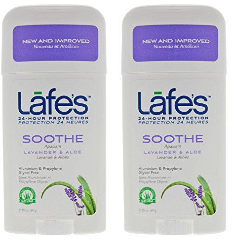Lafe's Soothe Natural Deodorant Twist-Stick (Pack of 2) with Grapefruit Seed Extract, Witch Hazel Extract, Coriander Extract, Aloe Vera and Allantoin, 2.25 oz