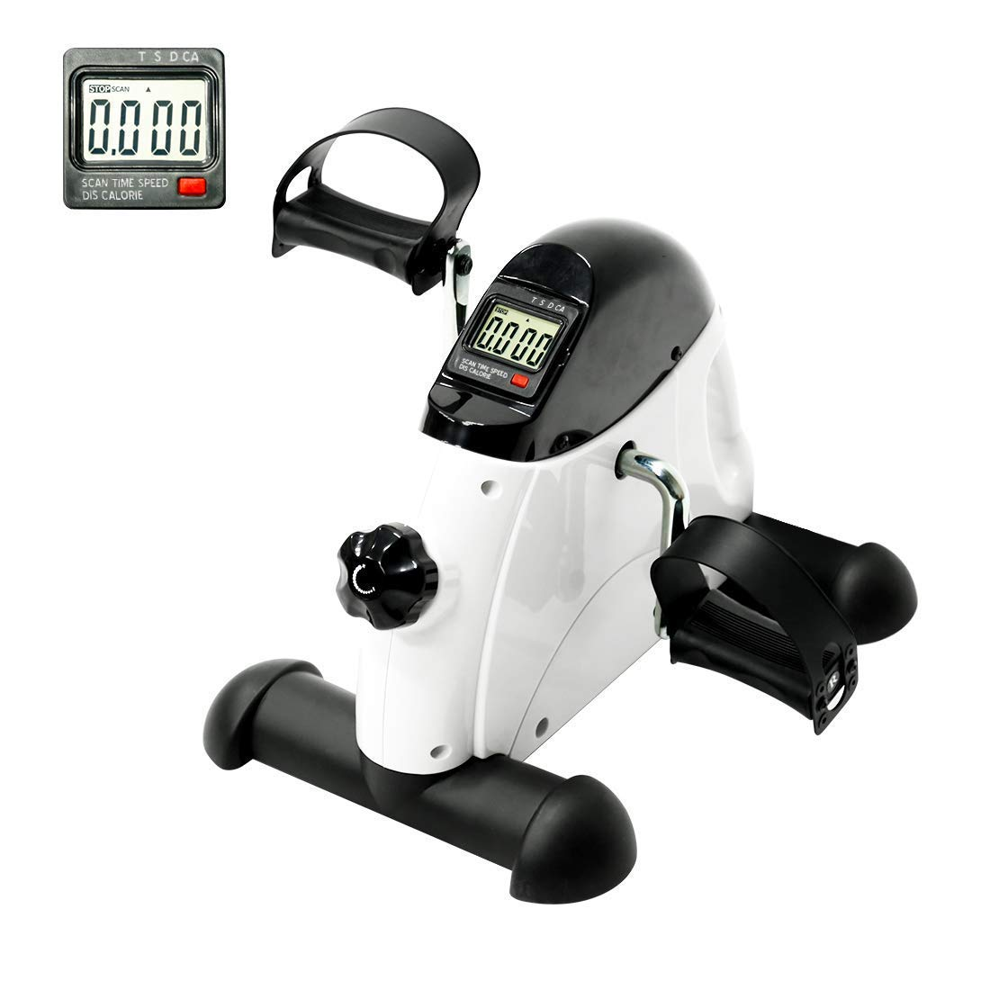 YOSUDA Under Desk Bike Pedal Exerciser - Mini Cycle Exercise Bike for Leg/Arm Pedder Portable