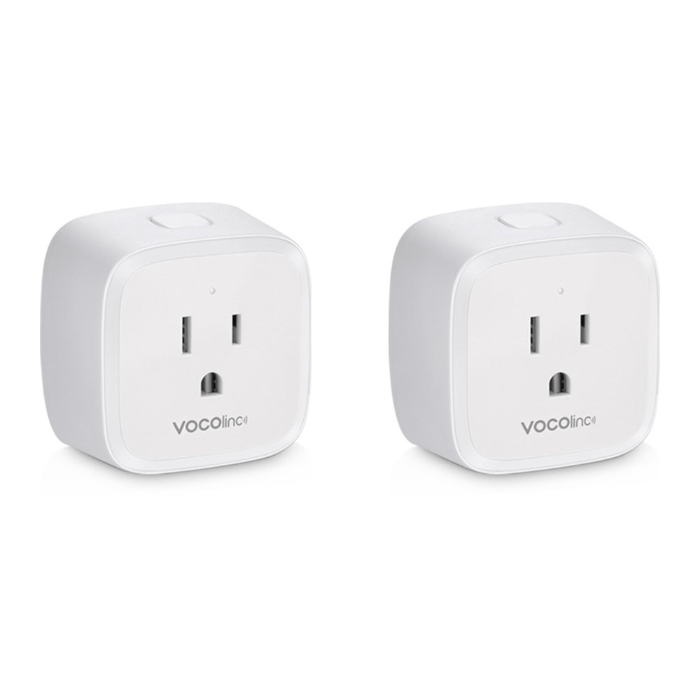 VOCOlinc PM1 Smart Wi-Fi Outlet Plug, Energy Monitoring, Adjustable Night Light, Works with Apple HomeKit, Alexa and Google Assistant, No Hub Required, Wi-Fi 2.4GHz (2 Pack)