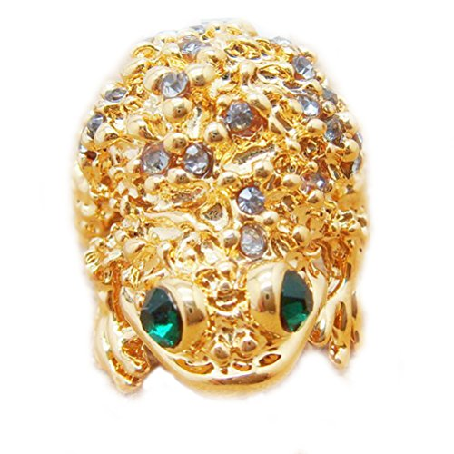 Superhai Lucky Toad Frog Fashion Diamond Ring and Gold Ring