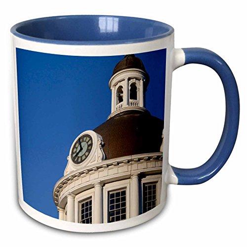 3dRose Danita Delimont - Clock Towers - Clock tower, City Hall, Ontario, Canada - CN08 CMI0076 - Cindy Miller Hopkins - 15oz Two-Tone Blue Mug (mug_135361_11) (Hall City Canada)