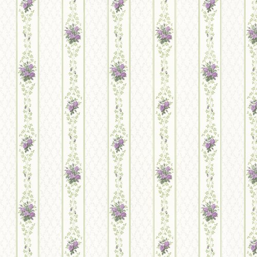 - Brewster 487-68833 Jaynie Trellis Stripe Wallpaper, Purple