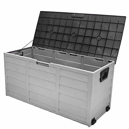 all weather uv Pool Deck Box Storage shed bin Backyard Patio Porch Outdoor new by onestops8