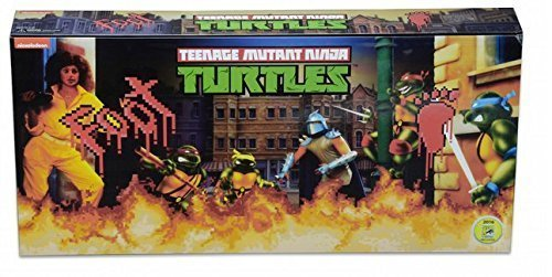 Teenage Mutant Ninja Turtles TMNT Arcade Game Foot Clan Figure Set SDCC 2016 Exclusive ... ()