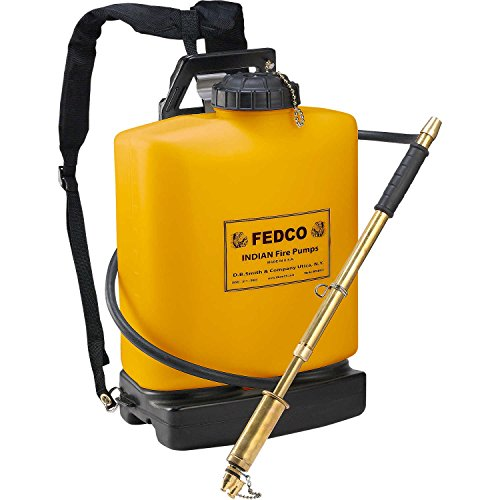 Fedco 190387 Poly Tank Fire Pump, 5-Gallon, Orange