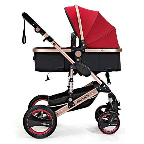 0--36 months baby stroller 2 in 1 stroller lie or damping folding light weight Two-way use four seasons (3) by wisesonle