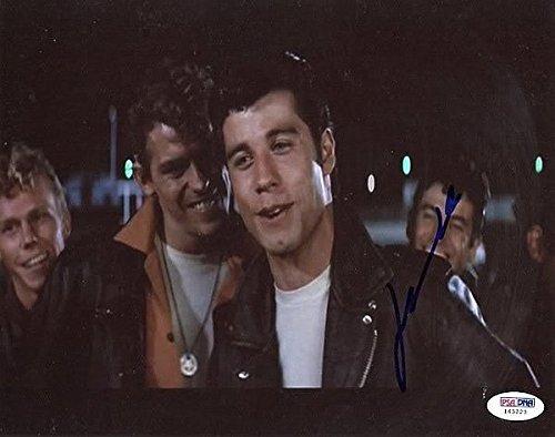 John Travolta Grease Autographed 8x10 Photo Autograph - PSA/DNA Authenticated