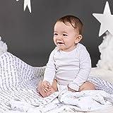 Bebe au Lait Premium Muslin Snuggle Blanket, Love
