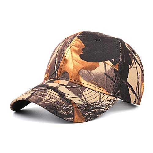 Hot Sale ! Kstare Snapback Hats,Sport Hat Breathable Outdoor Run Cap Camouflage Baseball cap Shadow Structured hat (Coffee) (Cap Dyed Solid Twill Pigment)