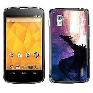 Carcasa Funda Prima Delgada SLIM Casa Case Bandera Cover Shell para LG Google Nexus 4 E960 / Business Style Lava Fire Fairytale Stars Mystery