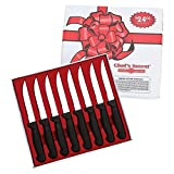 8 Piece 8-1/2'' Steak Knife Set-Surgical Stainless Steel Blades-NEW