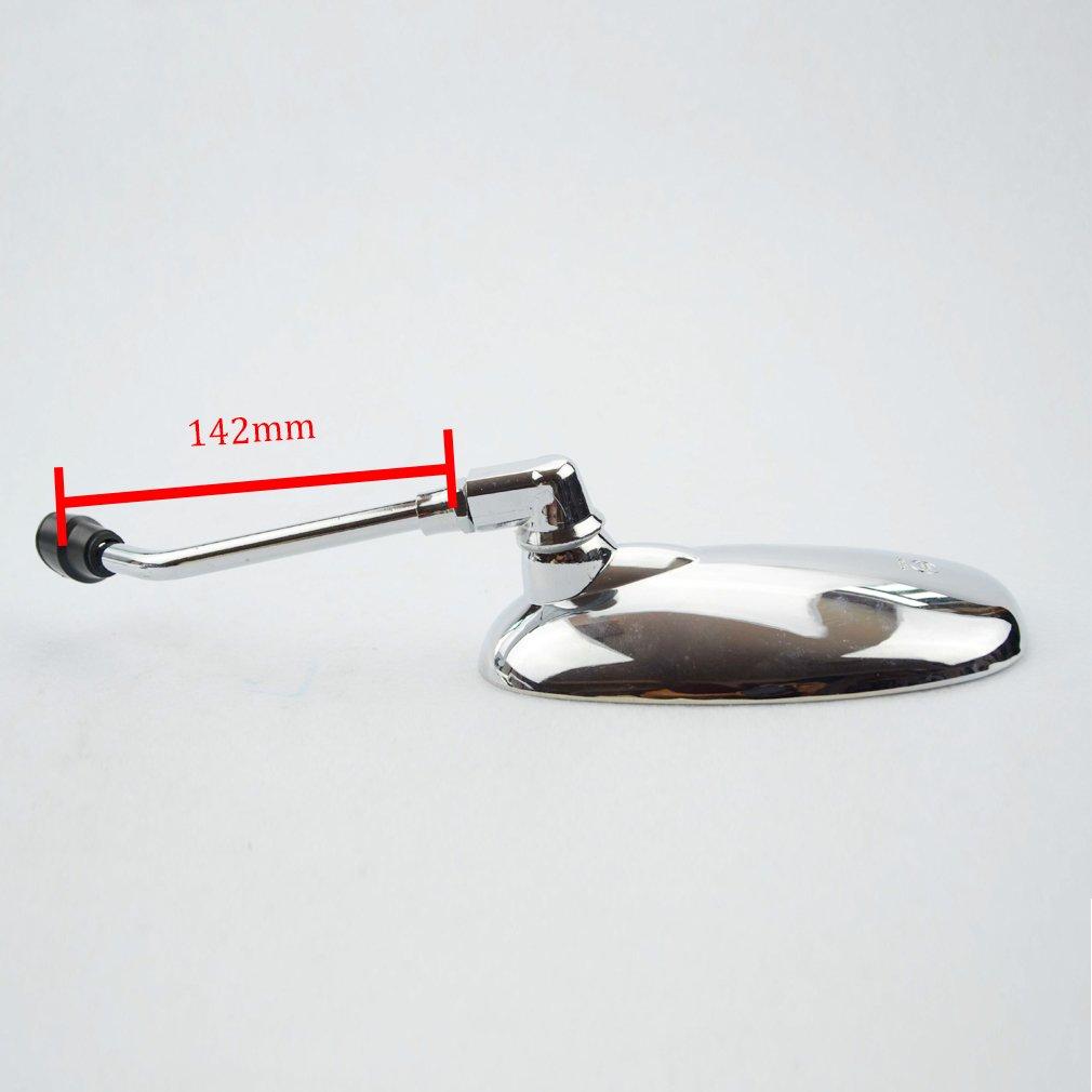 GOOFIT 8 mm plaqu/é argent R/étroviseur pour 50 cc 70 cc 90 cc 110 cc 125 cc 150 cc 200 cc 250 cc Scooter Moto Cyclomoteur