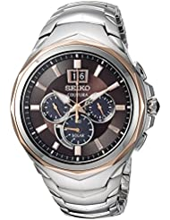 Seiko Mens COUTURA CHRONOGRAPH Quartz Stainless Steel Casual Watch, Color:Two Tone (Model: SSC628)
