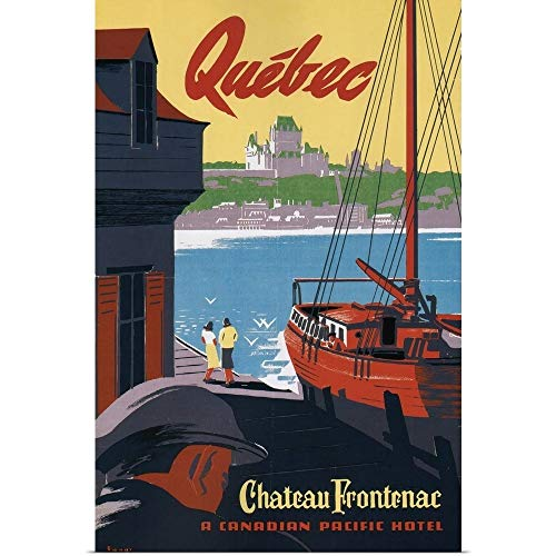 GREATBIGCANVAS Poster Print Entitled Quebec Chateau Frontenac by Vintage Apple Collection 12