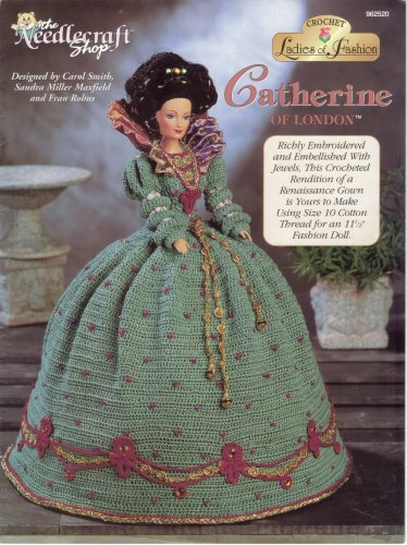 Catherine of London Crochet Doll Dress Pattern