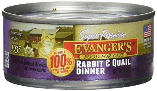 Evanger 100% Game - Evanger's Rabbit and Qual Dinner 24 5.5oz