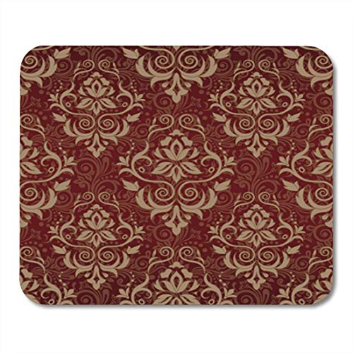 (HZMJPAD European Floral Pattern Flower Western Abstract Antique Baroque Border Mouse Pad 8.6 X 7.1 in)