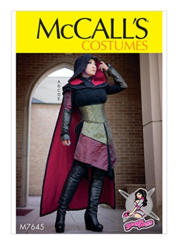 Mccalls Costume Patterns Medieval (McCall's Pattern M7645 E5 Misses' Dress, Corset, Hood, Cape, and Gusset Costume by Yaya Han, Size 14-22)