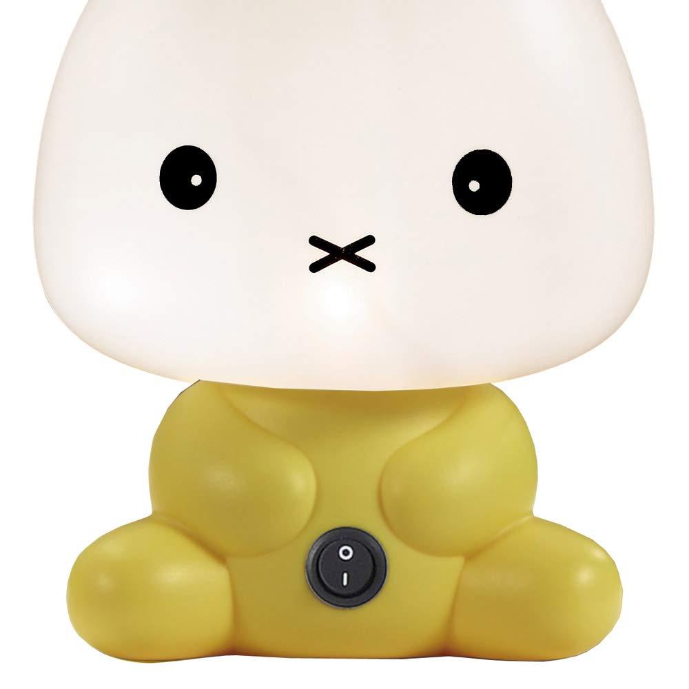 Wonderlamp W-A000114 L/ámpara decorativa infantil Conejito Color Amarillo