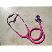 ICY Couture Swarovski Crystals Littmann Cardiology IV Bling Stethoscope(Solid Pink Crystals)