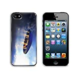 Liili Premium Apple iPhone 5 iphone 5S Aluminum Backplate Bumper Snap Case Alien UFO saucer flying on a clouds background above Earth IMAGE ID 37638700